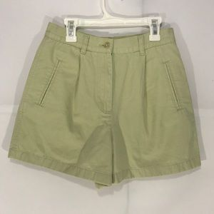 Ann Taylor High Waisted Mom Shorts pastel green